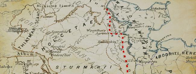Der Verlauf des Limes Saxoniae