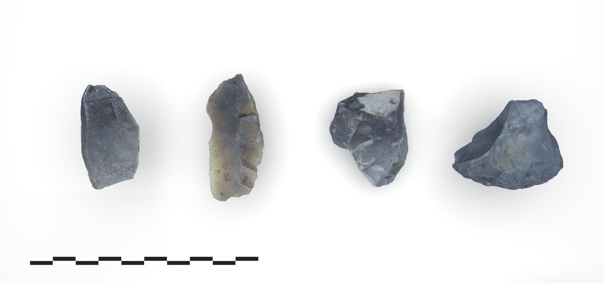 Steingeräte des Mesolithikums